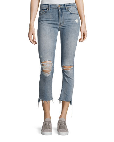 Insider Crop Straight Jeans, Indigo