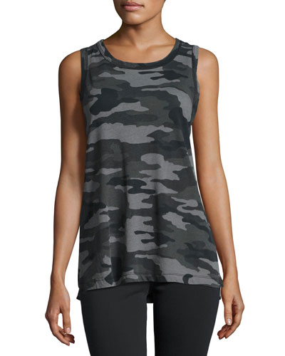 The Muscle Camouflage Tee, Black