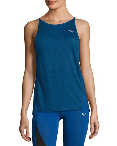 Dancer Drapey Performance Tank Top, Blue