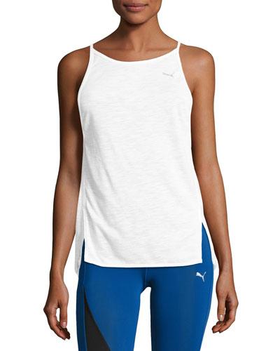 Dancer Drapey Performance Tank Top, White