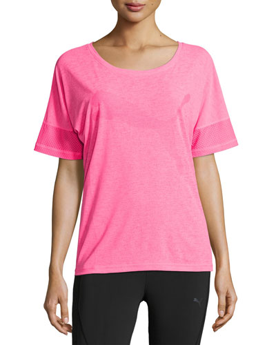 Loose Athletic T-Shirt, Knockout Pink