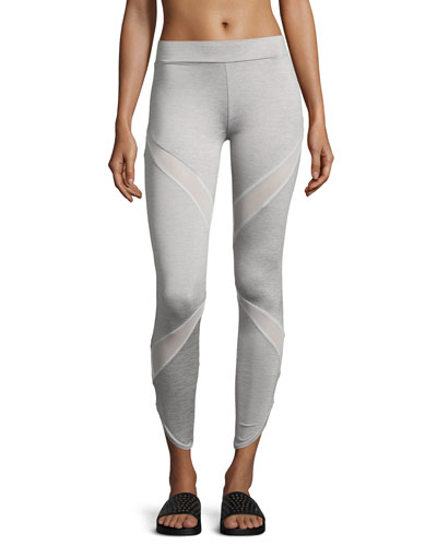 Evo Mesh Insert Performance Leggings, Gray