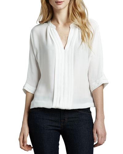 Marru Split-Neck Top, White