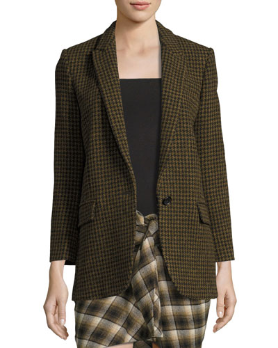 Ice Check One-Button Blazer