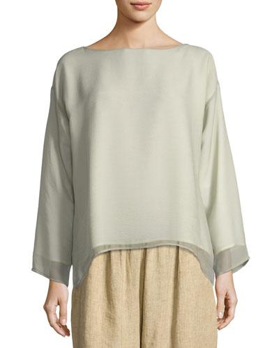 Layered Silk Tunic Top