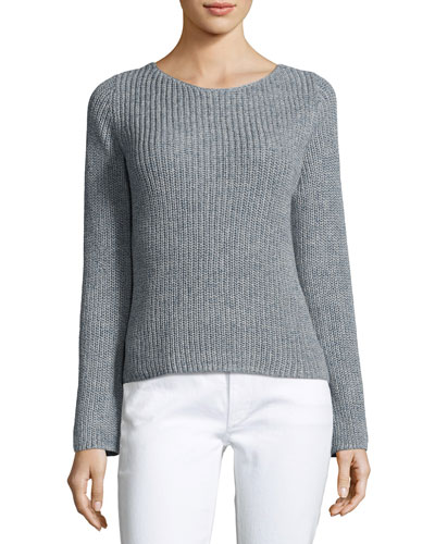 Lalora Linen Cotton Sweater, Blue