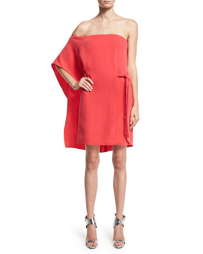 Asymmetric Off-Shoulder Dress, Poppy