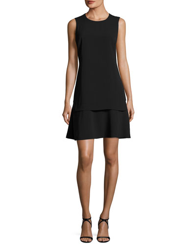 Astra Sleeveless Layered A-Line Dress