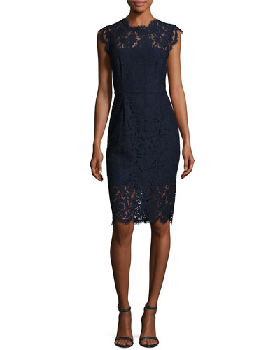 Suzette Floral Lace Sheath Dress