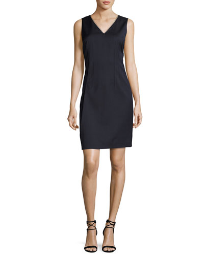 Linzi Sleeveless V-Neck Sheath Dress