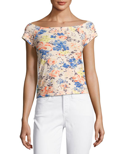 Gigi Off-The-Shoulder Floral-Print Top, Multicolor
