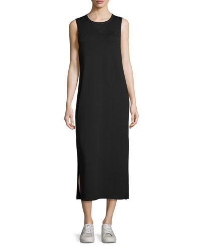 Phoenix Sleeveless Muscle Tank Dress, Black