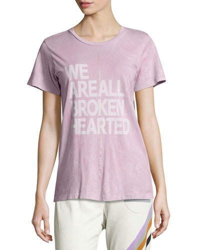 Broken Hearted Short-Sleeve Tee, Purple