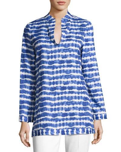 Tie-Dye Cotton Tunic, Multi