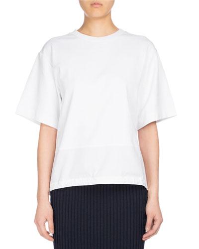 Parka Short-Sleeve Cotton Top