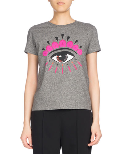 Eye Classic Cotton T-Shirt, Gray