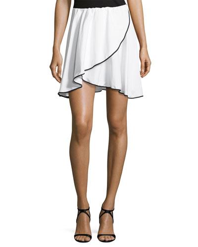 Crossover Short Skirt, White