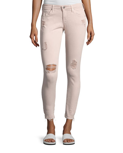 Farrah Skinny Ankle Interstellar Worn Sandalwood Jeans, Khaki