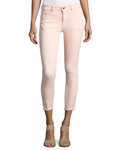 Florence Instasculpt Cropped Jeans, Pink