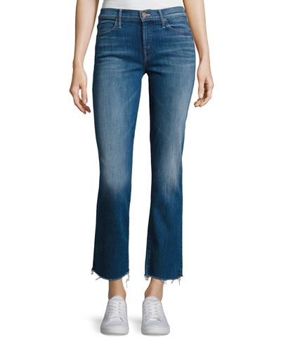 Rascal Ankle Snippet Denim Jeans, Indigo