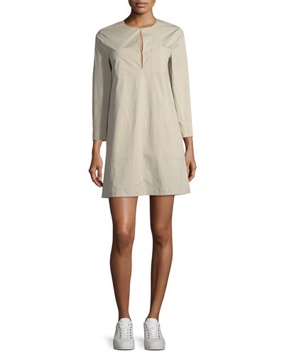 Jullitah B Split-Front Poplin Tunic Dress