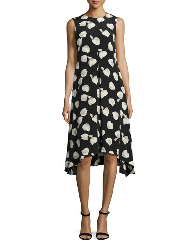 Nophella B Harper-Print Silk Dress, Multi