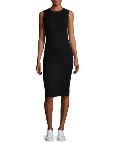 Milotina Ribbed-Knit Sweater Dress