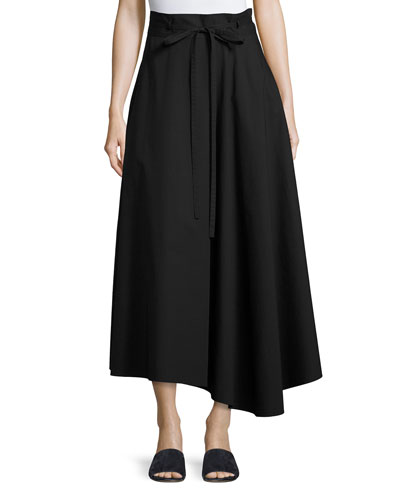 Jaberdina Light Poplin Skirt, Black