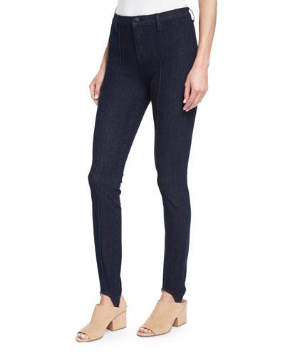Maria High-Rise Stirrup Jeans, Blue