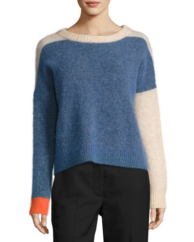 Rafa Colorblock Knit Sweater, Blue