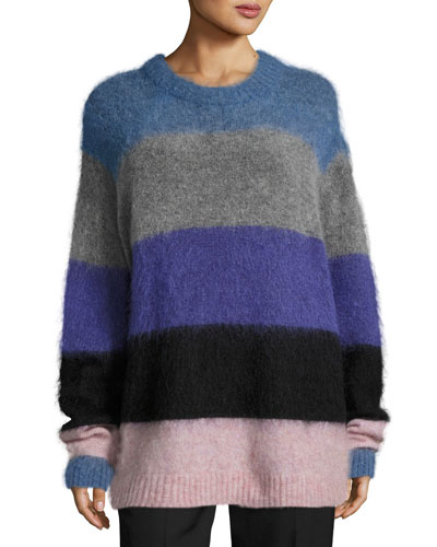 Albah Striped Knit Sweater. Multi