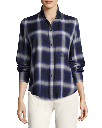 Plaid Utility Shirt, Blue