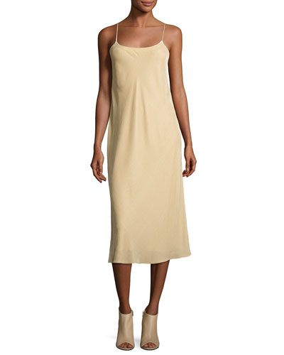 Velvet Camisole Slip Dress, Dill
