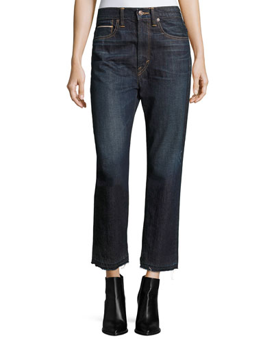 Union Slouch Released-Hem Jeans, Dark Vintage Wash