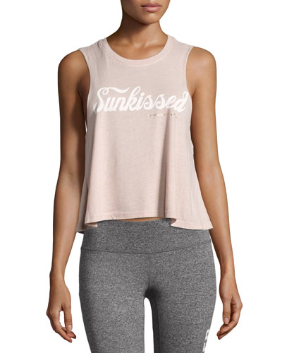Sunkissed Script Crop Tank, Light Pink