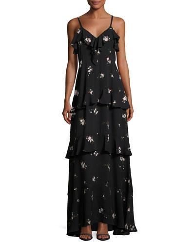 Zaydena Sleeveless Maxi Dress, Black
