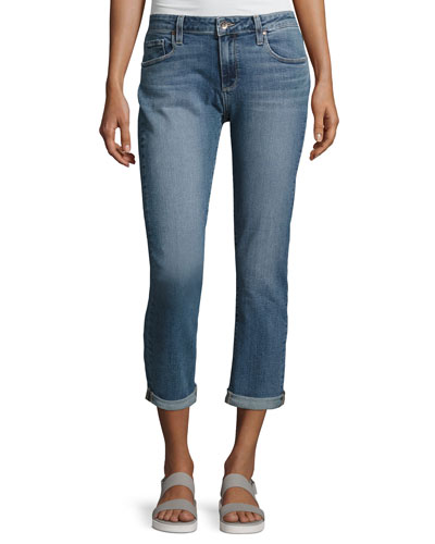 Brigitte Mid-Rise Boyfriend Jeans, Indigo