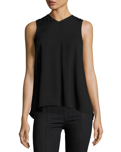Knot-Back Sleeveless Top, Black
