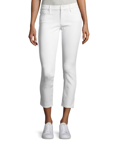 Looker Glass Slipper Crop Jeans, White