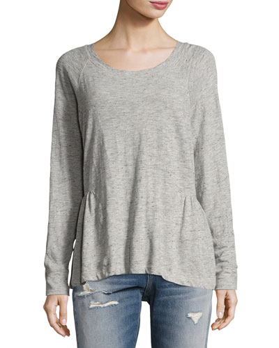 The Girlie Sweat Top, Gray