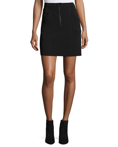 Porter A-Line Crepe Mini Skirt