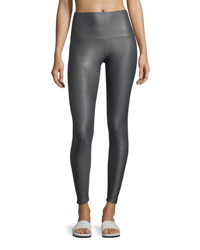 High-Rise Performance Leggings, Gray