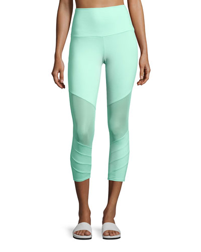 Moto Performance Capri Leggings, Green