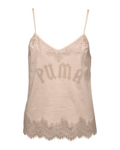 Lace Trim Sleepwear Cami, Pink