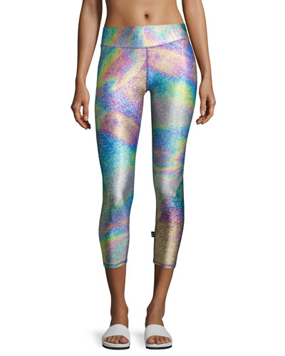 Tall Band Capri Performance Leggings, Multi