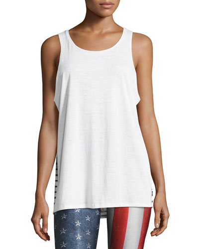 Stars and Stripes Muscle Tank, White