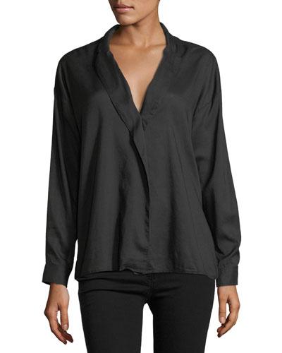 Moxy Wrap Long-Sleeve Cotton Shirt