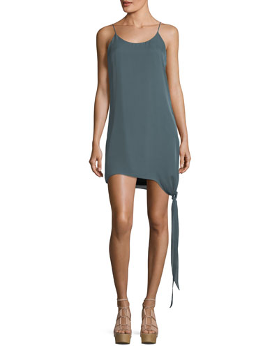 California Paradise Tie-Hem Shift Dress