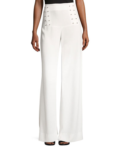 Sailor Barbell Wide-Leg Pants