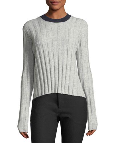 Bicolor Tie-Back Sweater